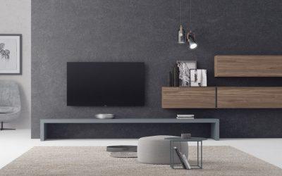 Mueble bajo… totalmente integrado y casi pasa desapercibido…