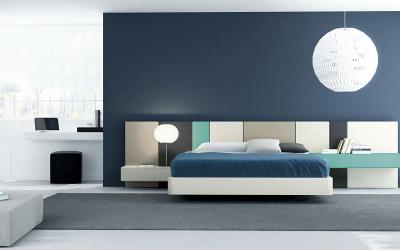 Cabezales con tonos de color que alegran dormitorios