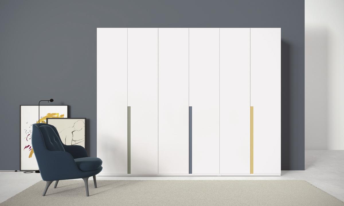 armario puertas batientes lacado blanco - Armarios