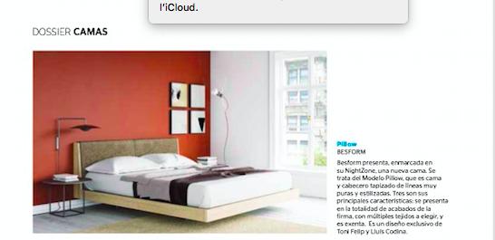 Revista Casa Viva presenta nuestra nueva cama PILLOW